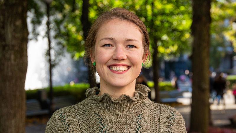 Valgvinner: Une Bastholm. Talsperson i Miljøpartiet De Grønne. Foto: MDG